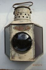 Early Geo. B Carpenter & Co Ship Chandlers Starboard & Port Lantern Candle Power