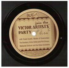 RCA 33-1/3rpm Record DL-5 join the Victor Artists' Party / victor music festival