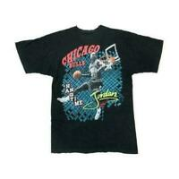 Vintage 90s Michael Jordan Chicago Bulls Men's T-Shirt Black REPRINT TA19037