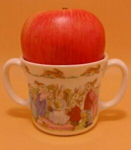 """Vintage Royal Doulton Bunnykins Two Handled Child's Cup/Mug  """"MOTHER"""" England"""
