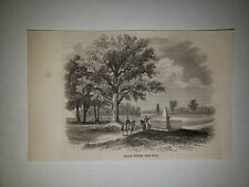 Liberty Township Ross County Ohio Ancient Work 1863 Hw Sketch Print Rare!