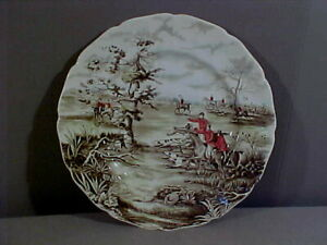 TALLY HO JOHNSON BROS ENGLAND VIEW 10 ¾ INCH DINNER PLATE NICE