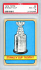 1972-73 TOPPS #8 STANLEY CUP TROPHY PSA 8 21370464