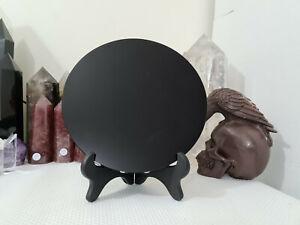 1 Black Obsidian Scrying Mirror - 20cm