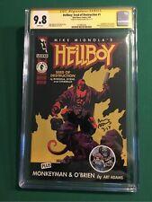 Hellboy : Seed of Destruction #1 CGC 9.8 SS signed Arthur Adams 1st Hellboy 🔥🔥