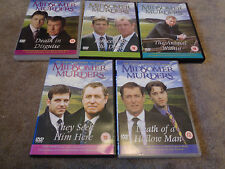 MIDSOMER MURDERS 5 x DVD's  - acorn media - approx 500 minutes of viewing