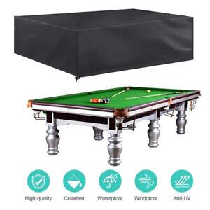 7/8FT Outdoor Pool Billiard Snooker Table Cover Polyester Waterproof Dust Cap