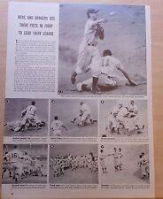 1940 magazine photo page - Cincinnati Reds & Brooklyn Dodgers brawl at Ebbets