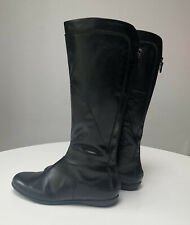 Vagabond Black Knee High Leather Lovely Boots Zip Detail Size 4 EU 37 VGC