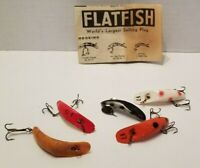 Lot of 5 HELIN FLATFISH fishing lures. Vintage Pre-owned