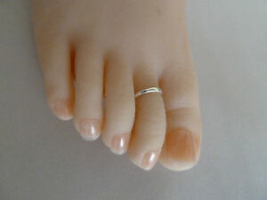 3x 925 Sterling Silver (plated)Toe Ring,adjustable band,FREE postage.3 toe rings
