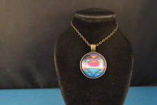 OM Heart Cabochon PENDANT -  NECKLACE  Mystic Love  New!  Jewelry  USA SELLER!!!