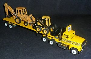 Winross Truck - Keller Bros. - with Ford Backhoe & New Holland Loader - MIB