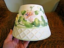 YANKEE CANDLE Morning Glory Lattice Spring/Summer Shade Topper For Large Candle
