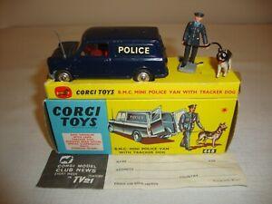 CORGI 448 B.M.C. MINI POLICE VAN WITH TRACKER DOG - EXCELLENT in original BOX