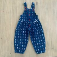 Cute Cucumber Vintage Denim Fancy Bear Overalls Girls Toddler Size 2T