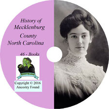 MECKLENBURG County North Carolina NC - History Genealogy Charlotte - 46 Books CD