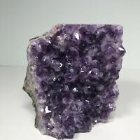 "Purple Crystal Cluster 4 Lbs 5 Oz Amethist Geode Labelled Uruguay 5.75""x 5.25"""