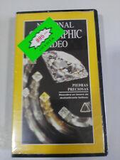 PIEDRAS PRECIOSAS - VHS TAPE CINTA NATIONAL GEOGRAPHIC NEW SEALED NUEVO !!!