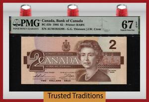 TT PK BC-55b 1986 CANADA 2 DOLLARS QUEEN ELIZABETH II PMG 67 EPQ SUPERB GEM UNC!
