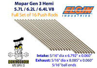 "Elgin Set of 16 Mopar Gen 3 Hemi 5.7L 6.2L 6.4L Engine Push Rods 6.792"" 8.085"""
