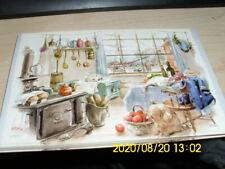 25 Vintage Red Farm Studio postcards kitchen window dock scene