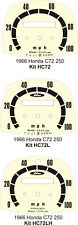 HONDA C72 CA77 CA95 CA100 CL72 CL77 SPEEDO CLOCK DIAL GAUGE FACE OVERLAY
