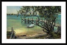 """""""Key's Whaler"""" by Tripp Harrison (Small/Fishing/Boat/Dock/Island/Beach)"""