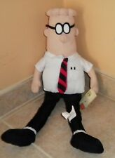 """Dilbert 17"""" Plush Toy Doll With Tag United Feature Syndicate Toy Factory"""