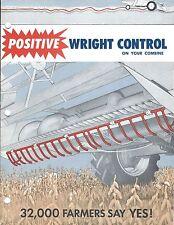 Farm Combine Brochure - Wright - Hi-G - Automatic Header Control - c1965 (F5170)