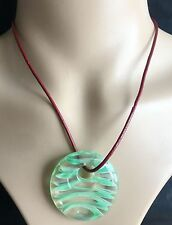 clear colors Lampwork Glass Pendants round Murano Glass Charms for Necklace