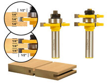 "Yonico 15221 - Matched Tongue and Groove Router Bit Set 1/2"" Shank"