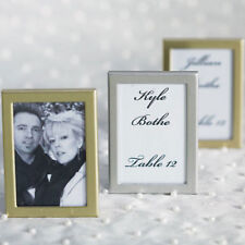 Easel Back Mini Photo Frames Brushed Silver Set of 15 Wedding Favor