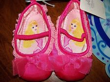 Disney Store Aurora Pink Baby Costume Shoes Size: 18-24 Months New