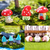 EG_ 3Pcs/Set House/Mushroom Miniature Garden Micro Landscaping Decor DIY Ornamen
