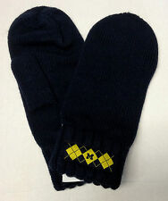 NCAA Michigan Wolverines Adidas Knit Mittens Winter Gloves L145W OSFA NEW!