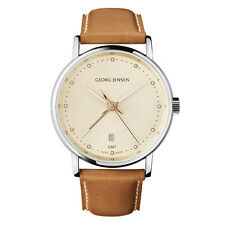 Georg Jensen Men's Dual Time Watch # 519 - Champagne Colour Dial - KOPPEL