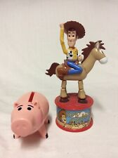 Disney Toy Story 2 Woody's Roundup Candy Dispenser and Ham the bank