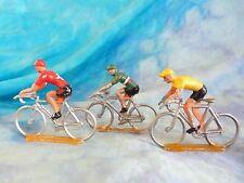 3 figurines de cyclistes en aluminium COFALU - SALZA ? Lot 3 (ref V8)