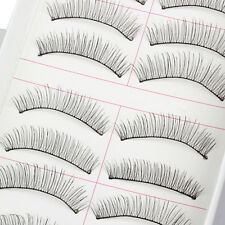10 Pairs Women False Thick Eyelashes Soft Cross Fake Eye Lashes Makeup Extension