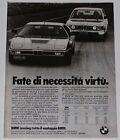 Advert Pubblicità 1980 BMW M1 / M 535i SERIE 5 E12