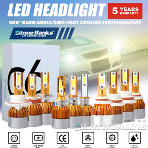9005 9006 H7 H4 H11 LED Headlight Bulb Hi/Low Beam Fog Light 100W 20000LM 6000K