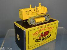 MATCHBOX Lesney modello no.8c Caterpillar tractor (48mm) VN Nuovo di zecca con scatola