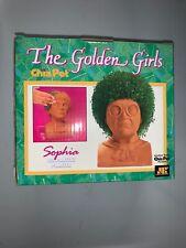 Golden Girls Sophia Chia Pet Decorative Handmade Pottery Planter Chia Seeds New