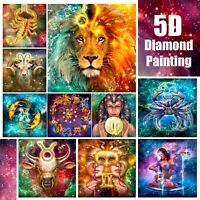 5D Zodiac Horoscope Design Full Drill Diamond Painting DIY Cross Stitch Kit