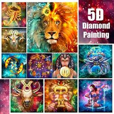 5D Zodiac Horoscope Design Full Drill Diamond Painting DIY Cross Stitch Kit