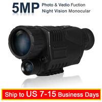 5X40 Night Vision Infrared IR Camera Monocular Scope 8GB Recording Image Video