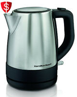 Electric Kettle Stainless Steel 1 Liter Fast Boiler Hot Water Coffee Tea Kitchen