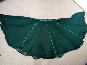 2x Dark green belly dancing skirts