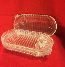CLEAR DEPRESSION GLASS  Vintage & Collectible Depression era NICE STRAW MARKS